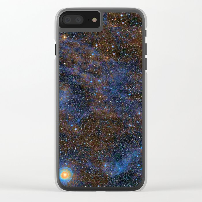 Aquarius Constellation Clear iPhone Case
