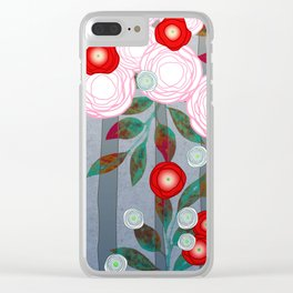 Flowers Summery Design Clear iPhone Case