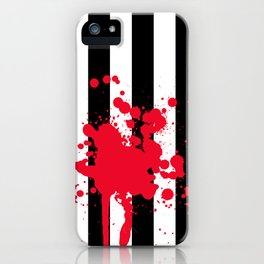Black and White and Red All Over iPhone Case