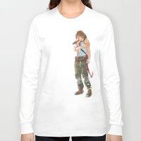 tomb raider Long Sleeve T-shirts featuring Tomb Raider by Robbie Drew Dixon