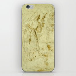 Two witches by Hieronymus Bosch iPhone Skin