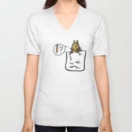 Pocket Bunny Unisex V-Neck