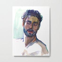 DENNIS, Semi-Nude Male by Frank-Joseph Metal Print