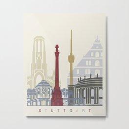 Stuttgart skyline poster Metal Print