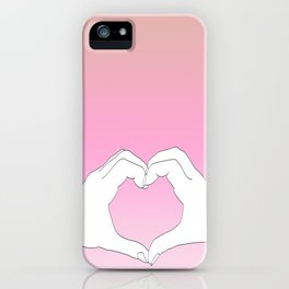 Hearted Hands iPhone Case