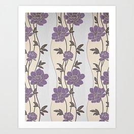 Purple Flower Garland Art Print