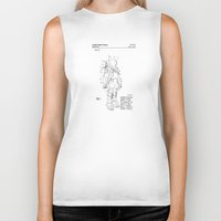 nasa Biker Tanks featuring NASA Space Suit Patent  by Elegant Chaos Gallery