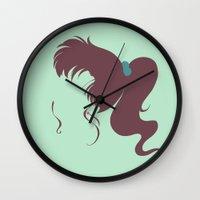 sailor jupiter Wall Clocks featuring Sailor Jupiter by karla estrada