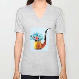 Herbal Pipe Unisex V-Neck