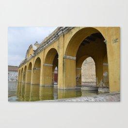 Antigua Guatemala Wash Basins Canvas Print