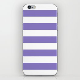 Ube - solid color - white stripes pattern iPhone Skin