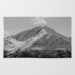 Snowy Alaskan Mountain Rug