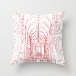 Inside Church Throw Pillow