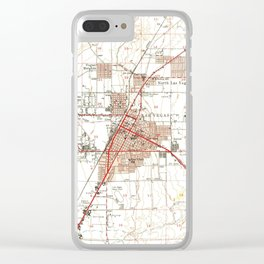 Vintage Map of Las Vegas Nevada (1952) Clear iPhone Case
