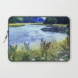 As a River Serpentines Through the Mountains Laptop Sleeve