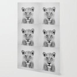 Lioness II - Black & White Wallpaper