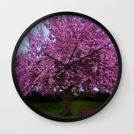 colourful flowerage Wall Clock