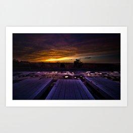 Winter Docks  Art Print