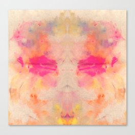 Rainbow Abstract T5 Rorschach Canvas Print