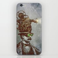lights iPhone & iPod Skins featuring The Projectionist (colour option) by Eric Fan