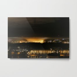 Captured and Claimed Light by the City at Night Metal Print