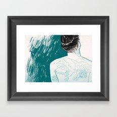 Tattooed skin. Framed Art Print