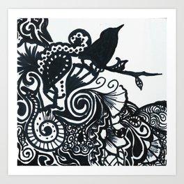 Raven's Wood Art Print