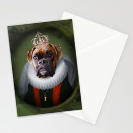 Queen Charlie - Boxer Dog Portrait Stationery Cards