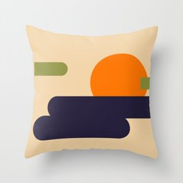 Summer Vacation Throw Pillow