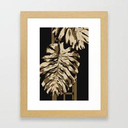 Two leafs illustration. Framed Art Print