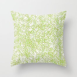Abstract lime green sprinkles Throw Pillow