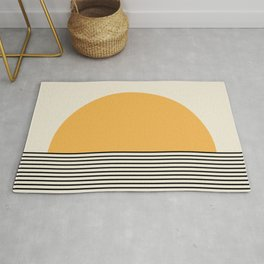 Sunrise / Sunset - Yellow & Black Rug