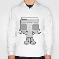 radio Hoodies featuring Radio Head by Ewan Arnolda