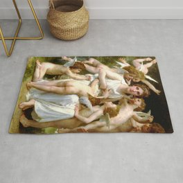 "William-Adolphe Bouguereau ""The Assault"" Rug"