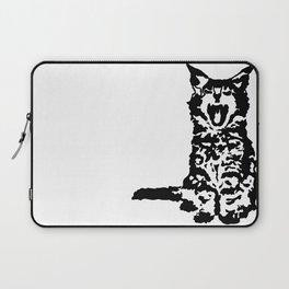 Screaming Kitten (Black & White) Laptop Sleeve