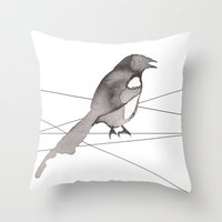 crow Throw Pillows featuring Crow by Dream Of Forest