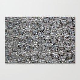 Grey Mosaic pattern Canvas Print