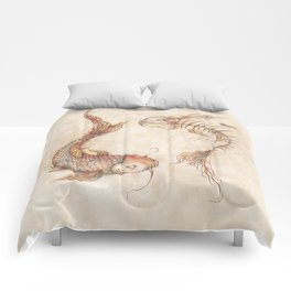 Yin Yang Fish Comforters