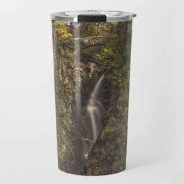 Autumnal Waterfall. Travel Mug