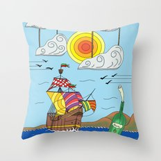 OLD BOY PIRATE Throw Pillow