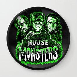 House of Monsters Phantom Frankenstein Dracula classic horror Wall Clock
