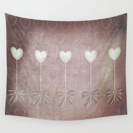 Lost love hearts in antique style Wall Tapestry