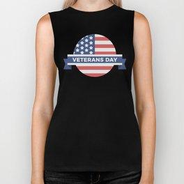 Veterans Day Commemorative Flag Design Biker Tank