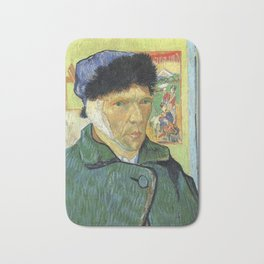 Self Portrait With Bandaged Ear Vincent van Gogh Bath Mat
