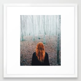 Sophie and the trees Framed Art Print