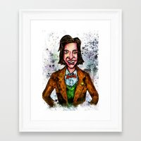 wes anderson Framed Art Prints featuring Wes Anderson by Grant Hunter