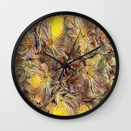 Flowers Galore - Painterly Wall Clock
