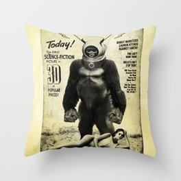 Robot Monster Throw Pillow