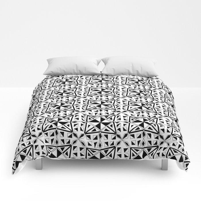 black and white symetric patterns 23- bw, mandala,geometric,rosace,harmony,star,symmetry Comforters