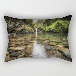 Eagle Crek and Punchbowl Falls Rectangular Pillow